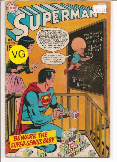Superman # 224, 4.0 VG