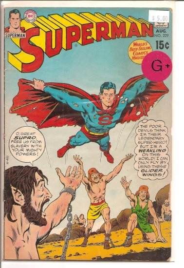 Superman # 229, 2.5 GD +