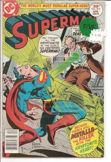 Superman # 310, 7.0 FN/VF