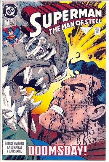 SUPERMAN THE MAN OF STEEL # 19, 8.0 VF
