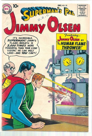 SUPERMAN'S PAL JIMMY OLSEN # 33, 4.5 VG +