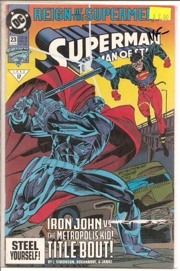Superman: The Man of Steel # 23, 7.5 VF -