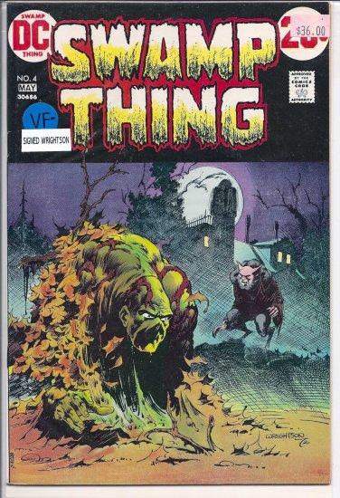 Swamp Thing # 4, 7.5 VF -