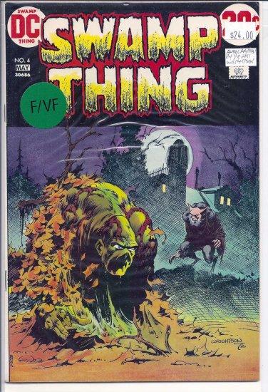 Swamp Thing # 4, 7.0 FN/VF