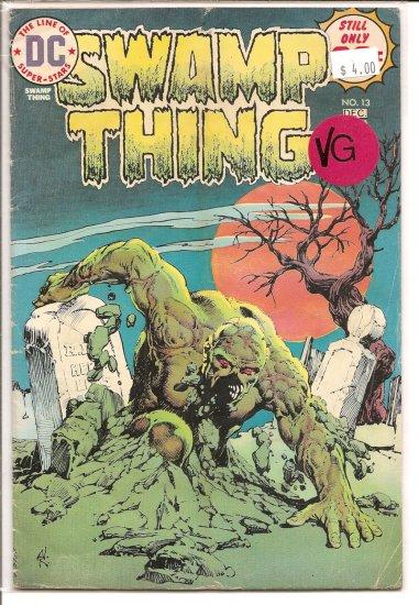 Swamp Thing # 13, 4.0 VG