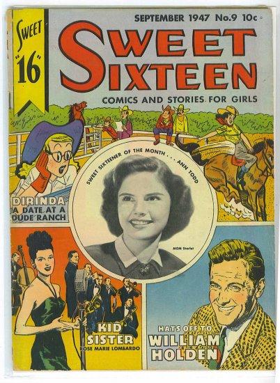Sweet Sixteen # 9, 3.0 GD/VG