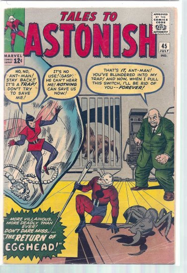 TALES TO ASTONISH # 45, 4.5 VG +
