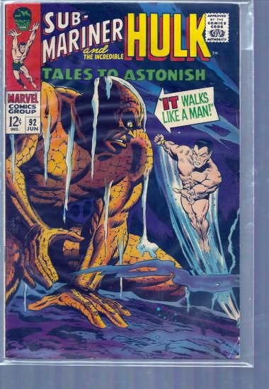 TALES TO ASTONISH # 92, 4.5 VG +