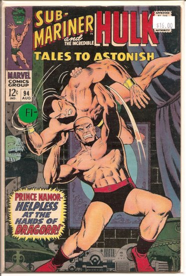 Tales to Astonish # 94, 5.5 FN -