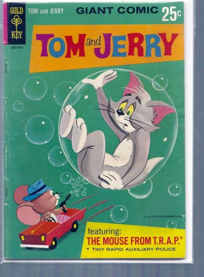TOM AND JERRY: THE MOUSE FROM T.R.A.P. # 1, 4.0 VG