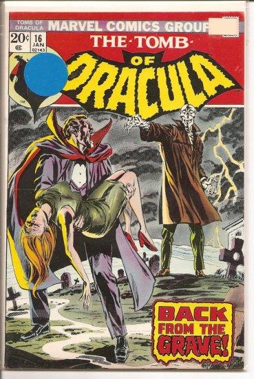 Tomb of Dracula # 16, 8.0 VF