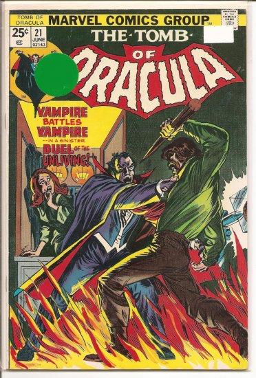 Tomb of Dracula # 21, 7.0 FN/VF