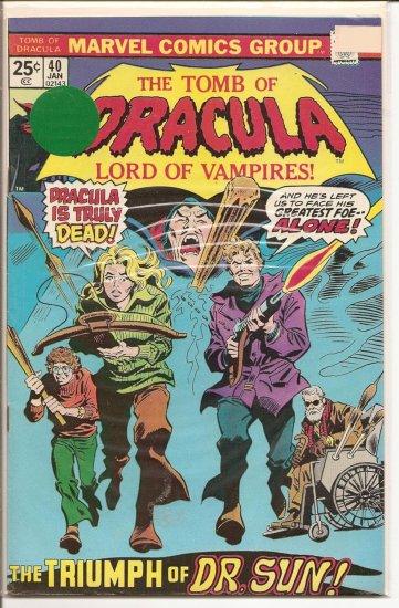 Tomb of Dracula # 40, 7.0 FN/VF