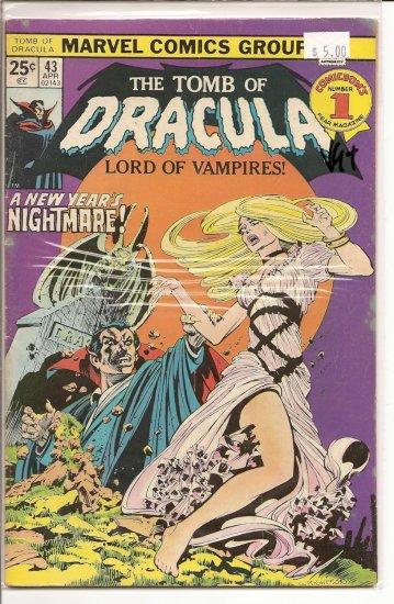Tomb of Dracula # 43, 4.5 VG +