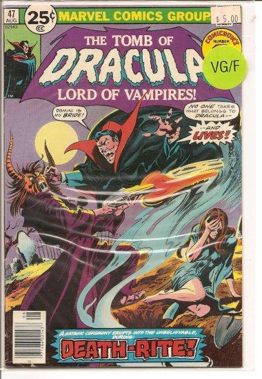 Tomb of Dracula # 47, 5.0 VG/FN