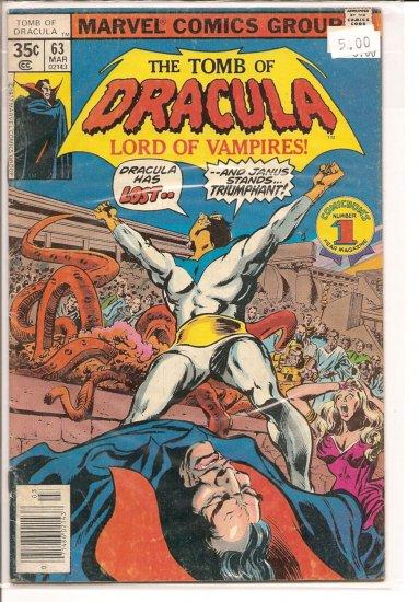 Tomb of Dracula # 63, 4.0 VG