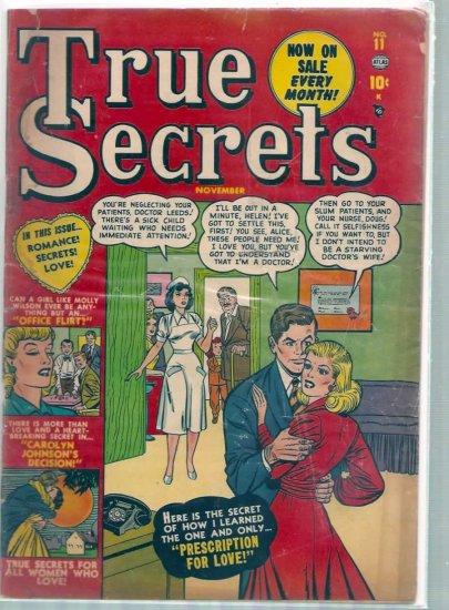 TRUE SECRETS # 11, 3.5 VG -