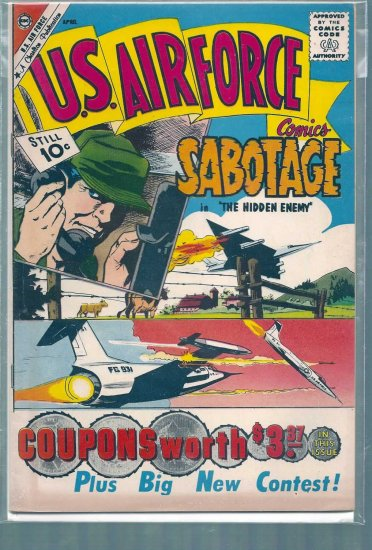 U.S. AIR FORCE COMICS # 15, 6.0 FN