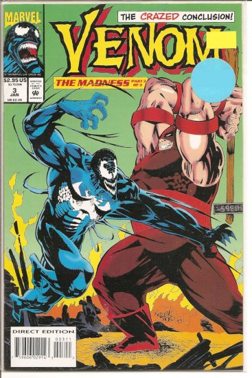 Venom: The Madness # 3, 9.0 VF/NM