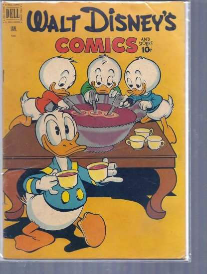 WALT DISNEY COMICS AND STORIES # 136, 3.5 VG -