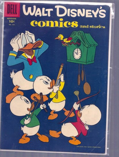 WALT DISNEY COMICS AND STORIES # 194, 4.5 VG +