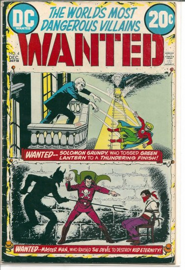 WANTED; THE WORLD'S MOST DANGEROUS VILLIANS # 4, 4.0 VG