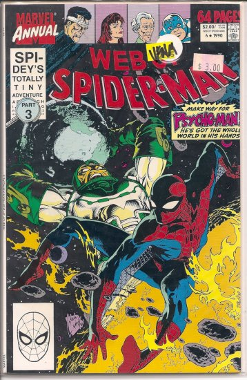 Web Of Spider-Man Annual # 6, 9.0 VF/NM