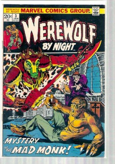 WEREWOLF BY NIGHT # 3, 4.0 VG
