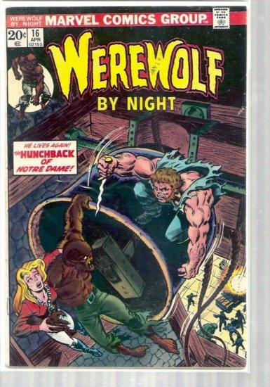 WEREWOLF BY NIGHT # 16, 4.5 VG +