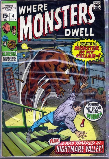 WHERE MONSTERS DWELL # 4, 4.0 VG