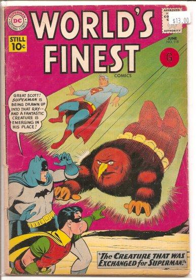 World's Finest Comics # 118, 2.0 GD