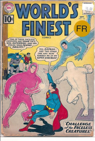 World's Finest Comics # 120, 1.0 FR