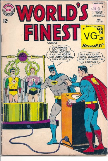 World's Finest Comics # 147, 3.5 VG -