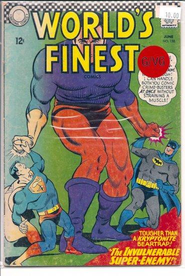 World's Finest Comics # 158, 3.0 GD/VG