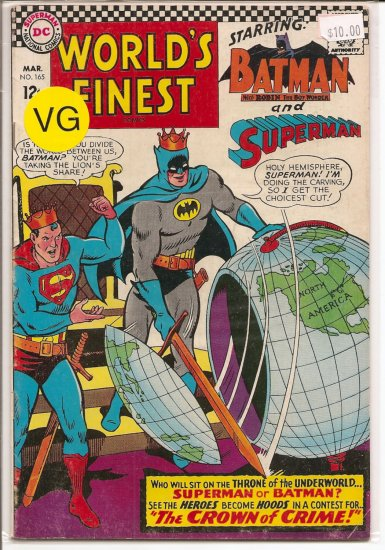 World's Finest Comics # 165, 4.0 VG