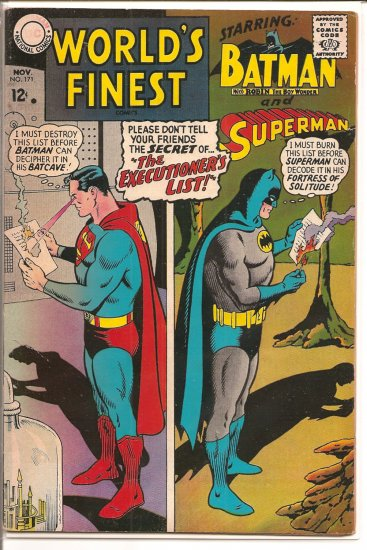 World's Finest Comics # 171, 3.0 GD/VG