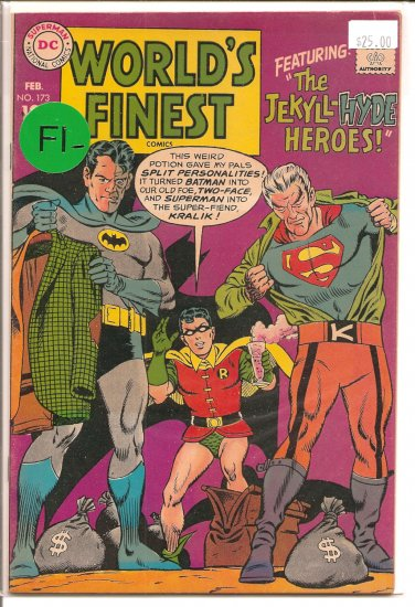 World's Finest Comics # 173, 5.5 FN -