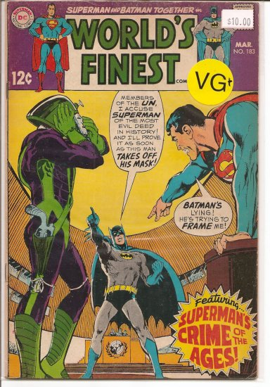World's Finest Comics # 183, 4.5 VG +