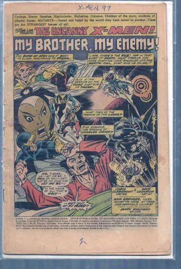 X-Men # 97, 0.5 PR