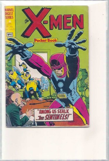 X-MEN POCKET BOOK # 17, 4.5 VG +