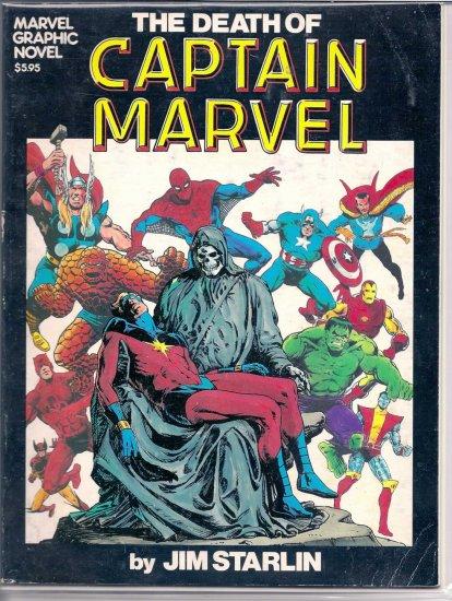 MARVEL GRAPHIC NOVEL DEATH OF CAPTAIN MARVEL # 1, 4.5 VG +