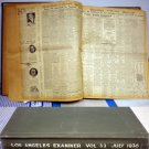 LOS ANGELES EXAMINER BOUND VOLUME #33 JULY 1936 # 33, 3.0 GD/VG