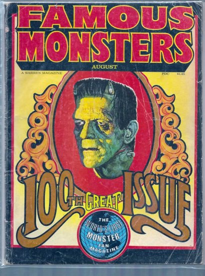 FAMOUS MONSTERS # 100, 2.5 GD +