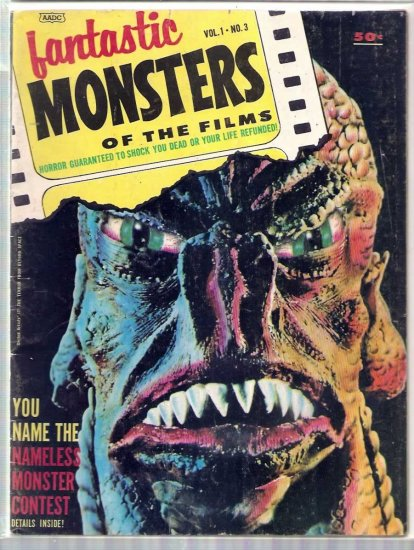 FANTASTIC MONSTERS OF THE FILMS # 3, 4.0 VG