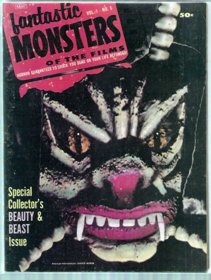 FANTASTIC MONSTERS OF THE FILMS # 5, 4.5 VG +
