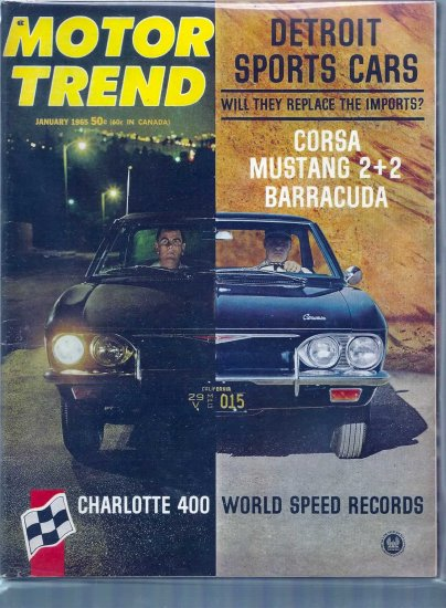 MOTOR TREND 1965 LOT # 1, 4.5 VG +