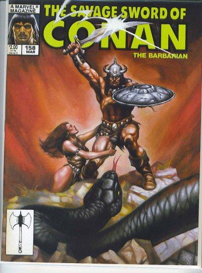 Savage Sword Of Conan # 158, 7.5 VF -