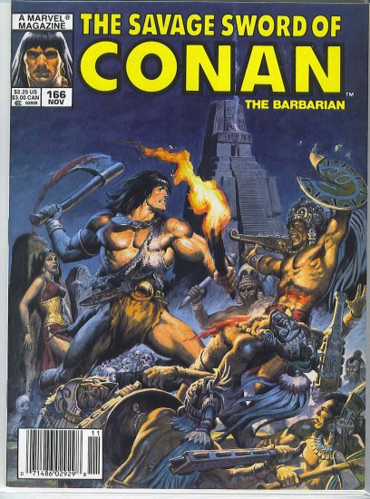 Savage Sword Of Conan # 166, 6.0 FN