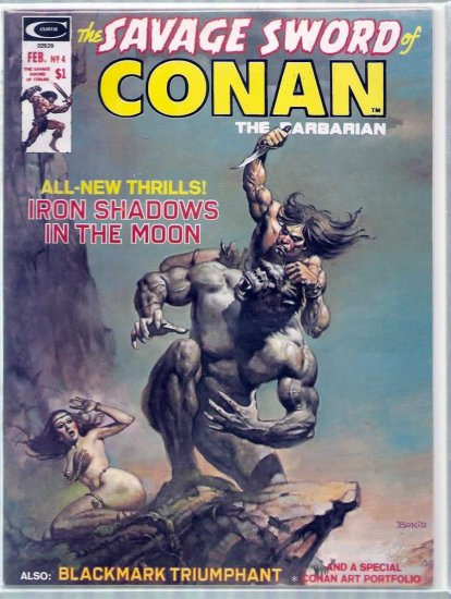 SAVAGE SWORD OF CONAN THE BARBARIAN # 4, 8.0 VF