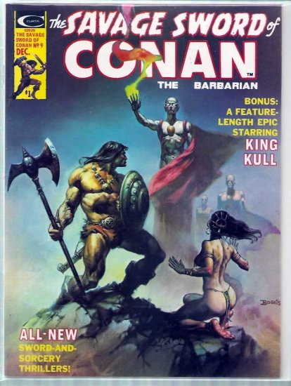 SAVAGE SWORD OF CONAN THE BARBARIAN # 9, 8.5 VF +